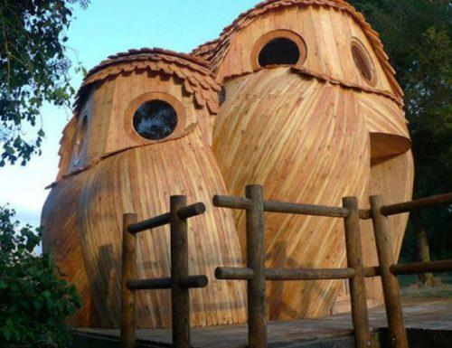Vacanze nella natura: dormire in una casa a forma digufo